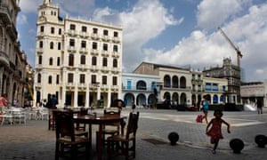 Empty square in Havana. Young people in their 20s and 30s have left.