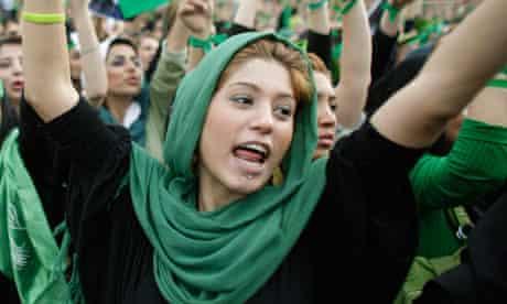 Supporter of Mir Hossein Mousavi