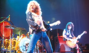 Robert Plant performing with Led Zeppelin