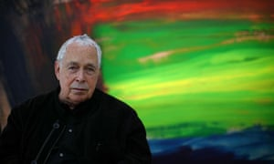 Howard Hodgkin at his show, Time and Place