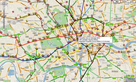 London Map Live.John Naughton On Open Data And The Live Tube Map Technology The