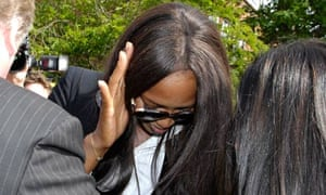 Naomi Campbell Attends Court Hearing