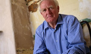 Writer John Le Carre at home