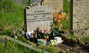 Grave of poet Sylvia Plath