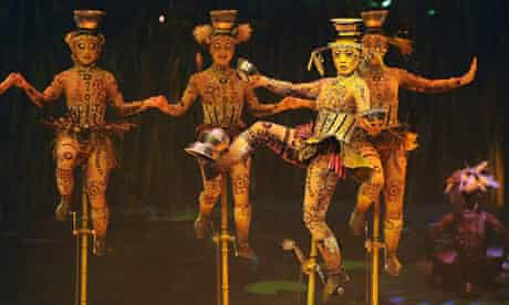 A performance of Cirque Du Soleil's new