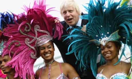 Boris Johnson Meets Notting Hill Carnival Dancers