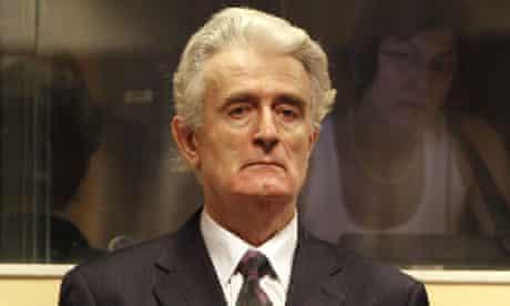 radovan karadzic in court at the hague