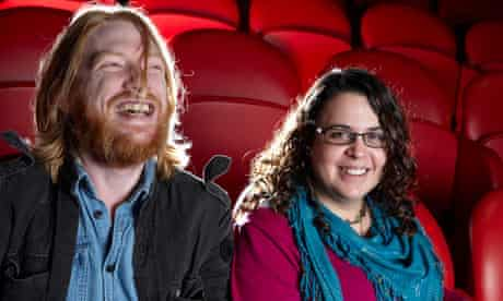 Domhnall Gleeson and Sally El Hosaini