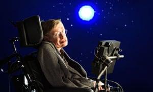 Stephen Hawking portrait in wheelchair