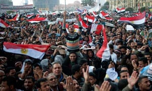 Egyptian anti-goverment demonstrators sh