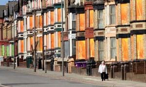 Derelict houses, Edge Lane, Liverpool
