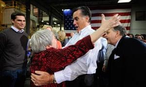 Mitt Romney In Cedar Rapids, Iowa
