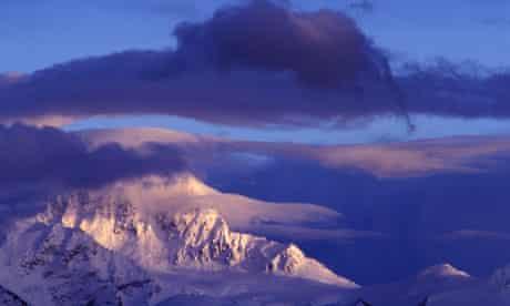 Sunset on Kailas Mountain Range in Tibet