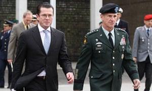 Zu Guttenberg  With General McChrystal