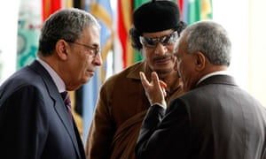 Amr Moussa Muammar Gaddafi Ali Abdullah Saleh
