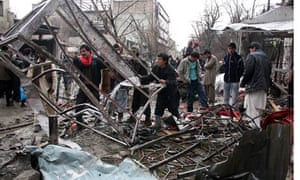 Two bomb blasts in Kabul killed at least seventeen people