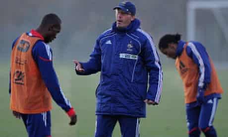 France's football coach, Laurent Blanc (