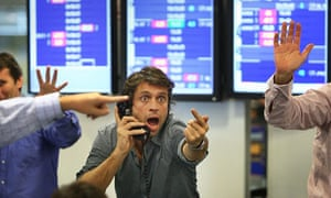 Brokers Continue To Trade During Financial Turmoil