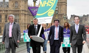 A union protest against NHS cuts.