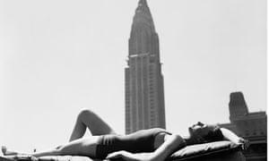 Woman Sun Bathing in Manhattan