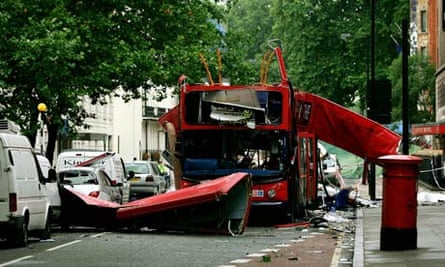 The double-decker bus destroyed in Tavistock Square in central London