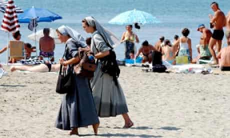 A beach at Ostia, near Rome.