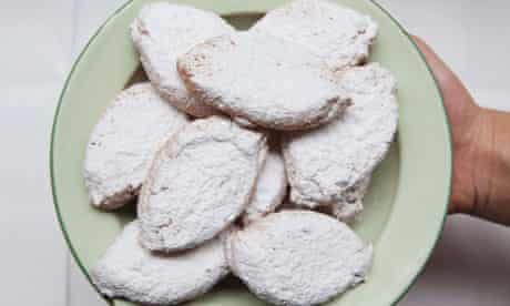 ricciarelli or soft almond biscuits from Tuscany