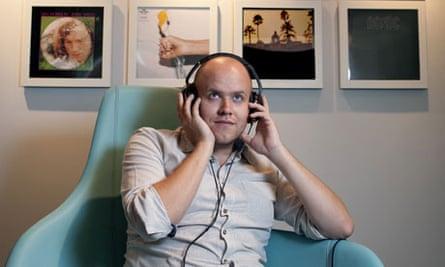 Spotify founder Daniel Ek in his London office
