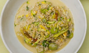 Nigel Slater brown rice and courgettes recipe