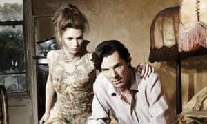 Benedict Cumerbatch with a model