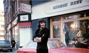 George Best outside his Manchester Boutique