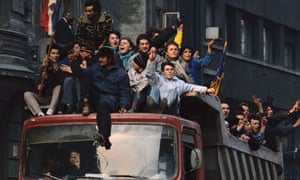 Revolt in Bucharest After Ceausescu's Fall