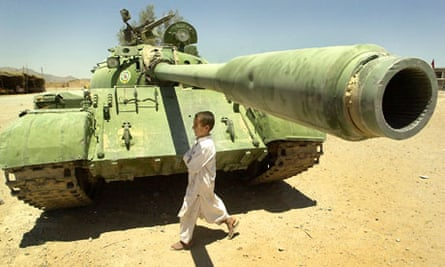 soviet TANK AND afghan BOY