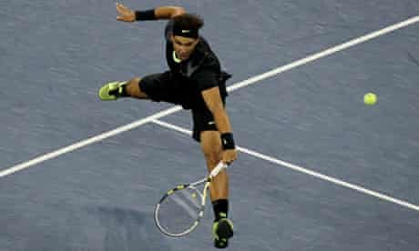 Rafael Nadal plays at the US Open