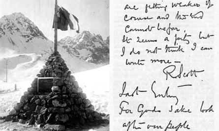 scott monument and letter