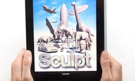 123D Sculpt app on iPad