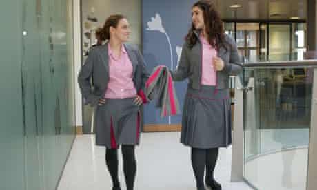 Schoolgirls in uniform