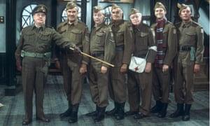 The cast of sitcom Dad's Army