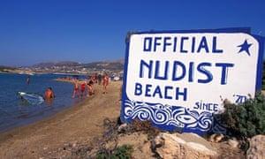 Antiparos nudist beach