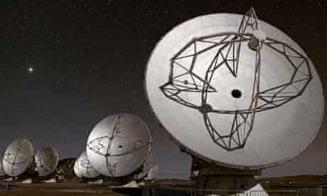 Alma telescope array searches night sky in Chile