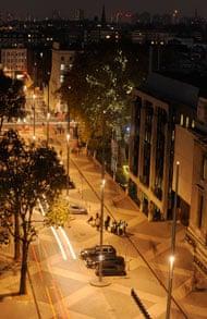 exhibition road night