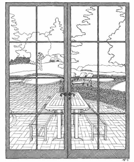 elmore leonard's window drawn by matteo pericoli
