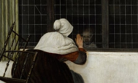 Detail from Jacobus Vrel's Woman at the Window.