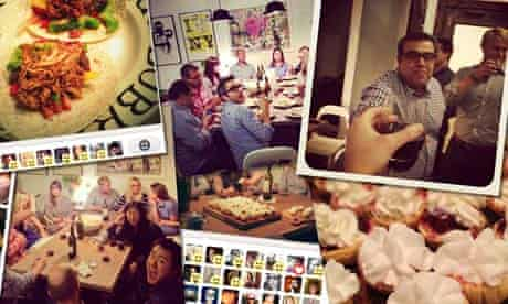 Nick Bilton's dinner party photo collage