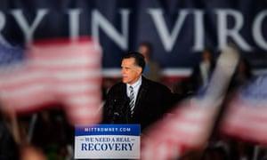 Romney Campaigns In Virginia