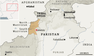 Map - Pakistan, Waziristan