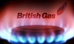 British Gas logo and gas ring