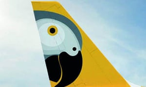 Fastjet's African grey parrot livery