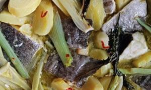 Salt cod, potatoes and celery