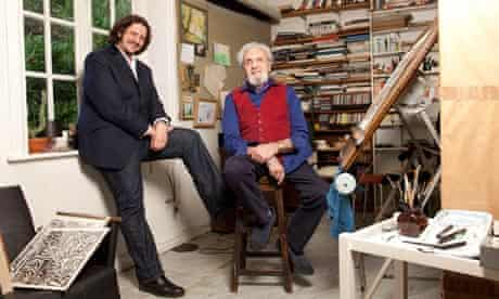 Jay and Desmond Rayner in artist's studio